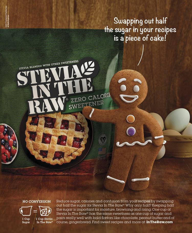 SteviaInTheRaw GingerbreadMan ad