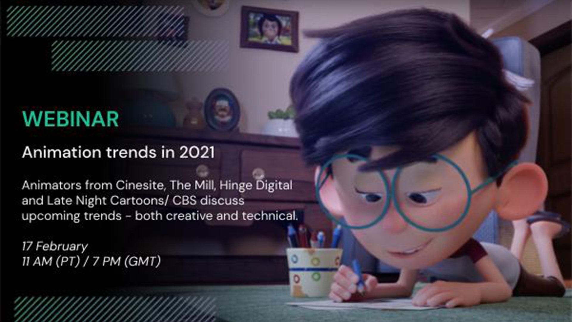 Animation trends in 2021 Webinar