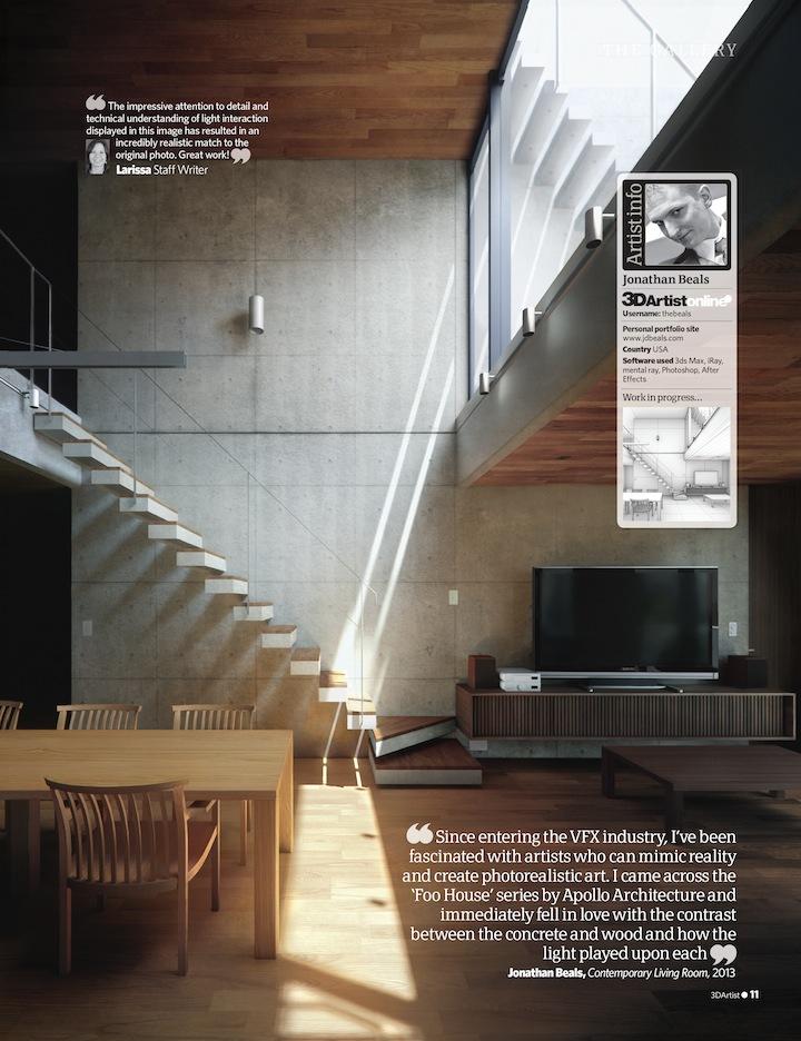 Hinge artist featured in 3D Artist Magazine
