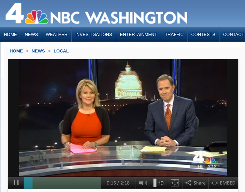 AdoptUSKids PSA featured on NBC4 in Washington, D.C.