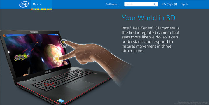 Intel Taps Hinge for RealSense Microsite