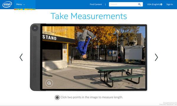 intel realsense measurements