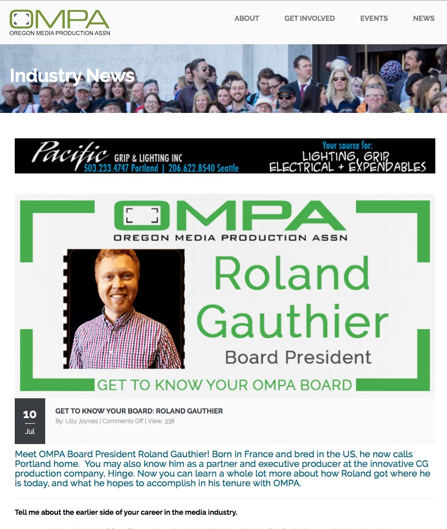 Roland Gauthier Elected OMPA board President